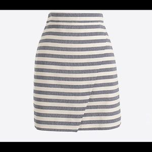 J Crew women's mini skirt with from flap NWT